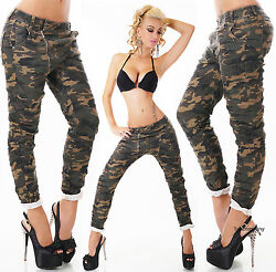 Womenand039s Military Skinny Hipster Boyfriend Jeans Baggy Harem Pants 68101214