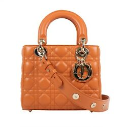 NWT CHRISTIAN DIOR Lady Dior Leather with Attachable Strap Mini Shoulder Bag
