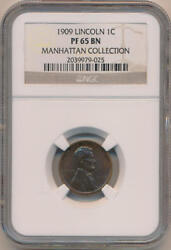 1909 Lincoln Wheat Cent, Ngc Pf65 Brown