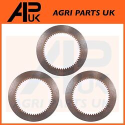 3x Pto Clutch Plate Friction Disc For Massey Ferguson 240 290 390 4wd Tractor