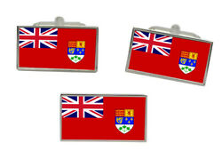 Canadian Red Ensign Canada Pre 1965 Flag Cufflink And Tie Pin Set