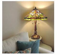 Style Calla Lilly Illuminated Glass Stained Art Shade Bronze Table Lamp