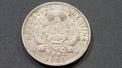 Extremly Rare Argentina - 1 Peso - Silver - Year 1883 - Km29 -