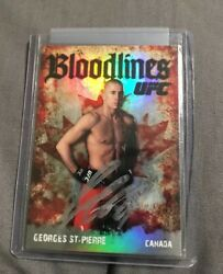 2009 Topps Ufc Bloodlines Georges St Pierre Rookie Refractor On Card Auto