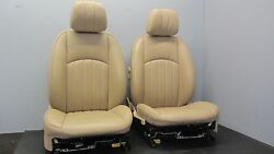 64K 07-11 MERCEDES BENZ CLS550 W219 FRONT SEAT LEFT RIGHT PAIR LEATHER TAN 1016