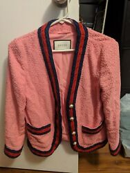 Gucci Light Tweed Jacket Pink Size 42