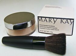 MARY KAY MINERAL POWDER FOUNDATION BRONZE 3 WITH BRUSH