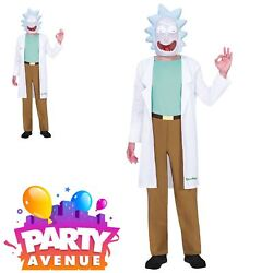 Official Teen Rick and Morty Costume Licensed Rick Sanchez Fancy Dress