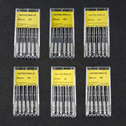 Dental Gates Glidden Drill Stainless Steel Endodontic Root Canal Files 32mm 1-6
