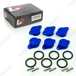6x 32mm BLUE ALUMINIUM SWIRL FLAP REPLACEMENT O-RING + SCREW FOR BMW 3/ 5 SERIES