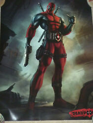 Nolan North Authentic Signed 18x24 Deadpool Video Game Poster Autographed