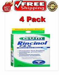 4 Pack - GUM Rincinol P.R.N. Mouth Sore Rinse 4 oz wmp