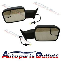 New Power Heated Telescoping Tow Mirror For Dodge Ram 98-01 1500/98-02 2500 3500
