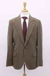 Nwt4995 Brunello Cucinelli Mens Cashmere-wool Houndstooth Sportcoat50/40us A191