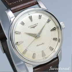 Longines Cal.19as 1956 Original Dial Ss Automatic Authentic Mens Watch Works