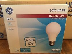 GE 60 Watt Light Bulbs Soft White Double Life Incandescent 72-Pack Free Shipping