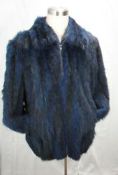 Free Shipg 100 Real Fur U S Dyed Blue Opossum Men Letout Bomber Big And Tall