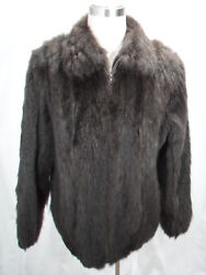 Free Shipg 100 Real Fur U S Dyed Brown Opossum Men Letout Bomber Big And Tall