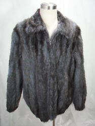 Free Shipg 100 Real Fur U S Dyed Navy Opossum Men Letout Bomber Big And Tall