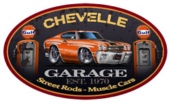 1970 Chevelle Ss Hardtop Classic Garage Sign Wall Art Graphic Sticker