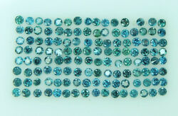 Natural Loose Diamond Round Blue Color I1 Clarity 0.70 To 1.10mm 100 Pcs Lot Q21