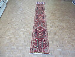2'5 X 25'4 Runner Hand Knotted Red Willow Tree Peshawar Oriental Rug G4691