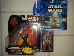 Star Wars Collection New Unopened Carrie Fisher,darth Maul,micro Machine 3 Items