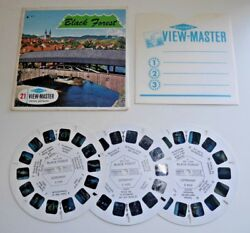 Black Forest Germany Viewmaster 3 Reel Set C410 Vintage 1960and039s Rare B937
