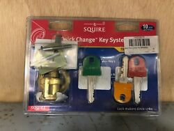Squire Rcs1 Rim Cylinder Quick Change Key System Polished Brass