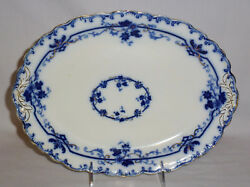 Johnson Brothers Oxford Flow Blue Oval Platter 11 1/2 By 8 1/2