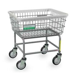 Anti-microbial Commercial Heavy Duty Wire Laundry Basket Cart New