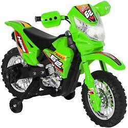 6v Kids Electric Battery Powered Ride-on Motorcycle Dirt Bike W/ Training Wheels