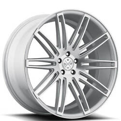20 Wheels And Tires Blaque Diamond Bd-2 Silver Machined