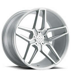 20 Wheels And Tires Blaque Diamond Bd-17-5 Silver Machined