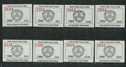 1989 Crow Creek Sioux Indian Reservation Sportsman Stamps A1-a8 Mint Nh Vf