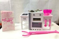 BARBIE Vintage Bake With Me Oven TESTED WORKS RARE 2000 Pink Model w Accessories