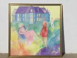 Betsey Fowler Andldquothe Hamptonsandrdquo 76andrdquox 76andrdquo Signed And Framed Oil Painting