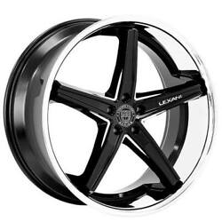 20 Staggered Wheels And Tires Lexani Fiorano Gloss Black Machined With Chrome
