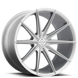 Qty4 20 Wheels And Tires Blaque Diamond Bd-11 Frozen Silver