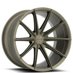 Qty4 19 Staggered Wheels And Tires Blaque Diamond Bd-11 Matte Bronze