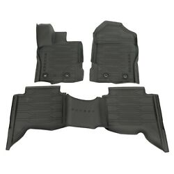 Oem New 19-20 Ford Ranger Crew Cab All Weather Tray Style Rubber Floor Mats Set