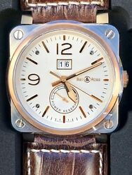 New Bell and Ross BR03-90 Bi Color Stainless Steel & Rose Gold