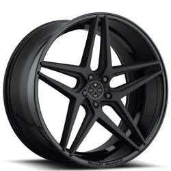 Qty4 20 Staggered Wheels And Tires Blaque Diamond Bd-8 Two Tone Black