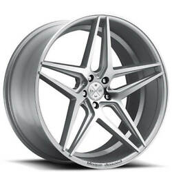 Qty4 20 Wheels And Tires Blaque Diamond Bd-8 Silver With Polished