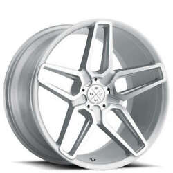 Qty4 20 Wheels And Tires Blaque Diamond Bd-17-5 Silver Machined