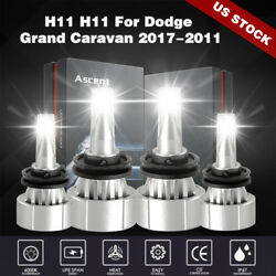 Auto Cree Front 4X H8 H9 H11 LED Headlight Kit Bulbs Power Beam 6000K 28880LM
