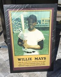 Vintage. Autographed Willie Mays Baseball Posters Lot Clean Rare And Original