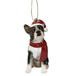 Boston Terrier Holiday Dog Design Toscano Exclusive Hand Painted 3½