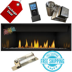 NAPOLEON Ascent BL46 Direct vent Linear gas fireplace Complete Package Blower