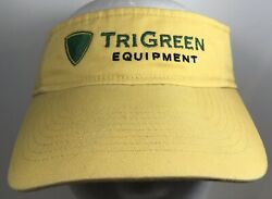 TRI GREEN EQUIPMENT John Deere Visor Cap Tractor Farming Barn Lawncare Hat Grass $22.00